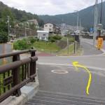 高松山の可部登山口手前の根の谷川に架かる橋を渡ったところ