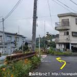 JR志和口駅南側の踏切前交差点