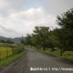 井原市駅から鍋谷城址に行く途中の三篠川沿いの小路