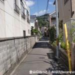 海田市駅から大師寺に行く途中の狭い路地
