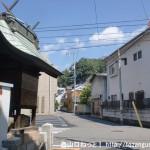 海田市駅から大師寺に行く途中の路地の辻