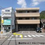 JR安芸中野駅前の車道に出たところ