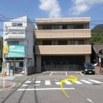 安芸中野駅出口から右に進む