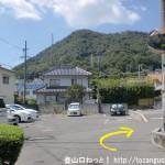 安芸中野駅から日浦山の影登山口に行く途中の路地の十字路