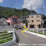 安芸中野駅から日浦山の影登山口に行く途中の橋を渡るところ