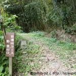 日浦山の影登山口から見る登山道