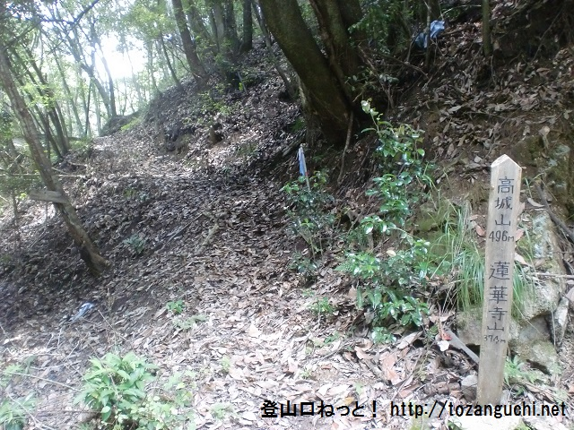 高城山・蓮華寺山登山口(中野東駅側)
