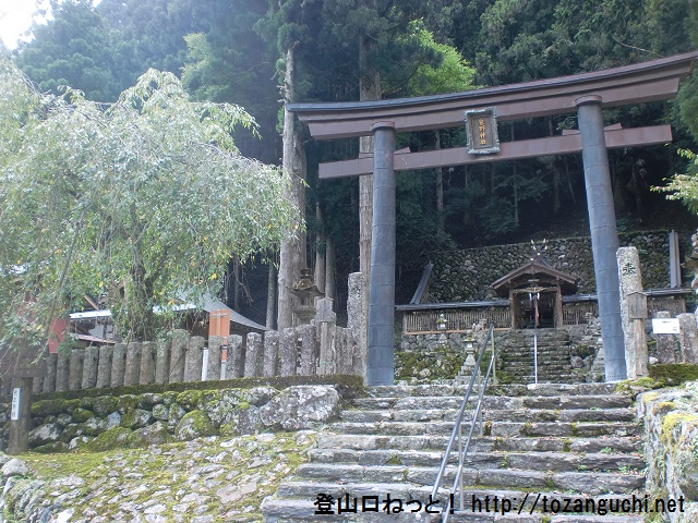 薊岳・明神岳の登山口 笹野神社と二階滝にアクセスする方法