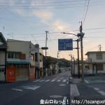 JR忠海駅(JR呉線)前の車道(国道185号線)