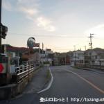 JR忠海駅の東にある興亜橋を渡るところ