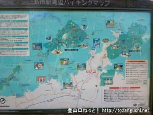京阪電車の私市駅前に設置してある周辺の案内板