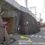 近鉄の石切駅前にある鳥居の下から左に入る