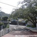 近鉄の額田駅前の枚岡公園に向かう坂道