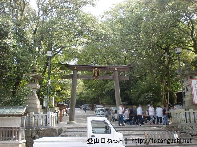 大原山の登山口 枚岡神社(枚岡梅林)にアクセスする方法