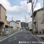 南生駒駅(近鉄生駒線)前の車道