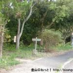 信貴山ハイキングコース入口(登山口・西和清陵高校前)