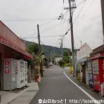 近鉄の二上神社口駅前の車道