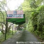 吉野大峯ケーブルの千本口駅(ロープウェイのりば)