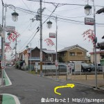 JR三輪駅前のみわ寿司前の角を右に入る