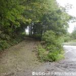 国見山の矢田原側(県道186号線側)の登山口