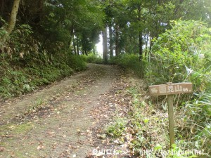 国見山(奈良)の県道186号線側の登山道入口