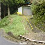 鎧岳の登山道入口(葛登山口・曽爾村)