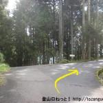 屏風岩公苑に向かう途中の林道の分岐
