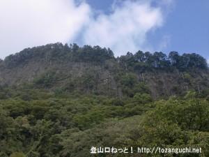 屏風岩公苑から見上げる屏風岩