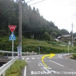 曾爾村役場からの道が県道81号線のバイパスに出合う所