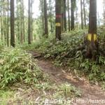 長野峠の亀山登山道入口