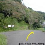 沢城址に行く途中の分岐を右に進む
