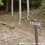 白倉山の匠の村側登山口に設置してある道標