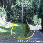 五社峠への直登ルートの登り口(西河)