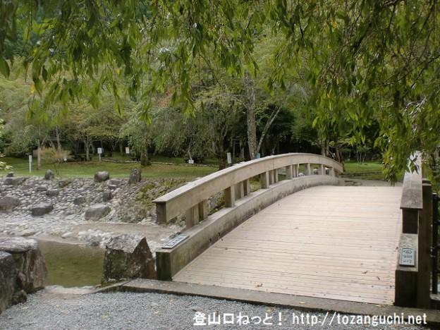 蜻蛉の滝公園内に架かる橋