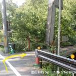 川上村の柏木地区にある吊り橋の入口
