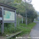 和佐又山ヒュッテそばにある大普賢岳・国見岳への登山道入口