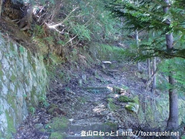 小峠山の水尻登山口から見る登山道