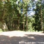 上葛川の林道終点(十津川村)