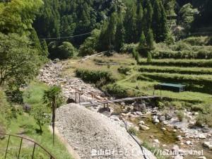十津川村の上葛川にある吊り橋