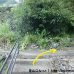 折立の玉置山登山口に行く途中の石段のT字路を右折