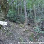 滝谷橋の横から登る石佛山の登山道