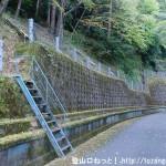 風屋ダムの法主尾山の登山口