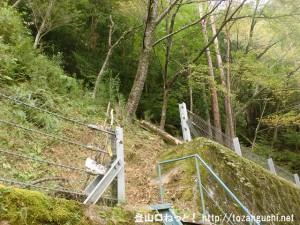 風屋ダムの湖畔にある法主尾山の登山道取付き点