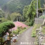 三浦口バス停のすぐ北側の小路を下る