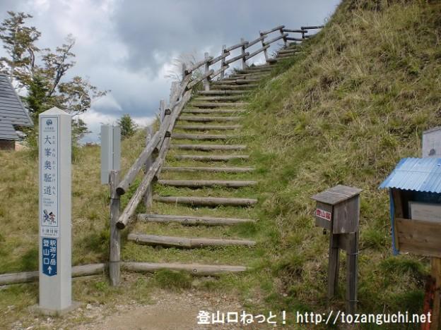 釈迦ヶ岳・大日岳の旭新登山口から見る登山道