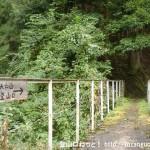 和田の発電所入口右手にある天和山の登山道入口