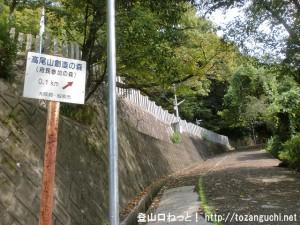 鐸比古鐸比売神社の参道入口に設置されている高尾山創造の森の案内板