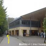 高尾山口駅前の遊歩道をケーブルカーの清滝駅方面に向かう