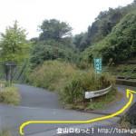 国道16号線の西武滝山台交差点南側にある滝山城跡の入口