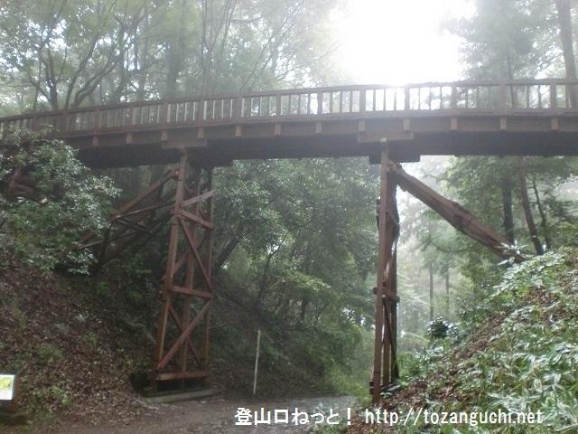 滝山城跡の本丸と二の丸を繋ぐ曳橋(曳き橋)